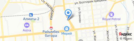 Достар на карте Алматы