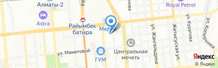 Магазин автотоваров на карте Алматы