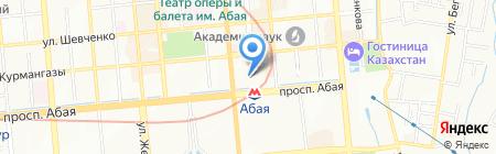 Научно-культурный центр дом М.О. Ауэзова на карте Алматы