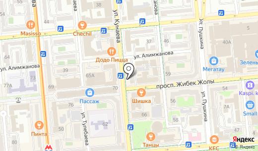 Multix. Схема проезда в Алматы