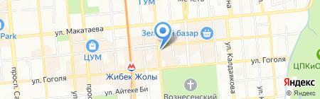 Секонд-хенд на ул. Кунаева на карте Алматы