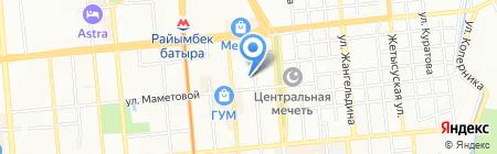 НСК на карте Алматы