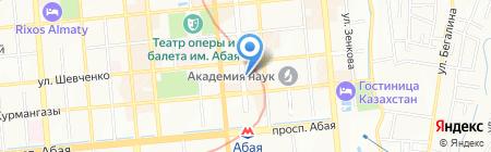КТА на карте Алматы