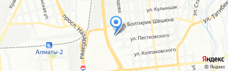 Кызылмай на карте Алматы