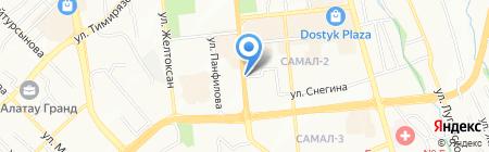 Даунс на карте Алматы