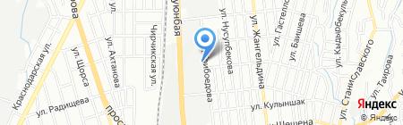 Казахский свет на карте Алматы