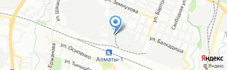 Жоларна на карте Алматы