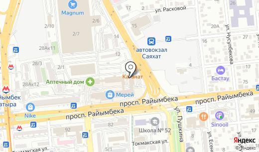 Marko. Схема проезда в Алматы