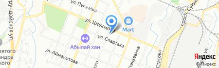 БТА Банк на карте Алматы