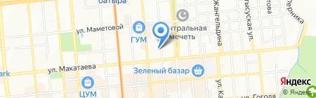 Давид на карте Алматы