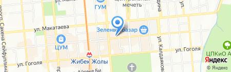 Кызыл Тан на карте Алматы