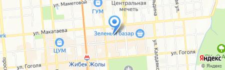 Нотариус Мухитденова Б.М. на карте Алматы