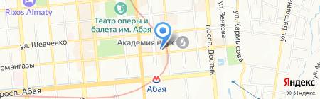 L`albero на карте Алматы