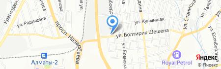 Шашлычная на Северном на карте Алматы