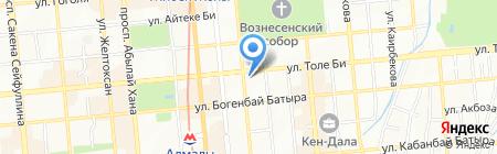 Национальный центр проблем формирования здорового образа жизни на карте Алматы