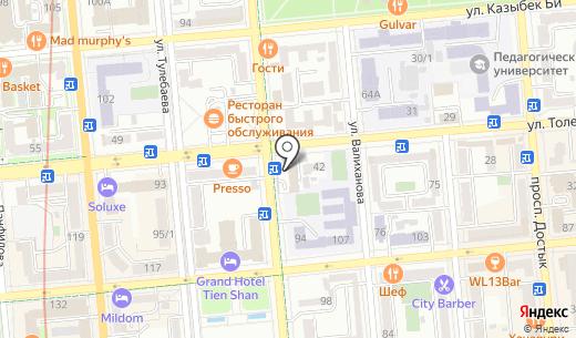 Общество Красного Полумесяца. Схема проезда в Алматы