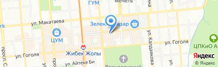 Саяны Тур на карте Алматы