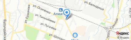 Иссык на карте Алматы