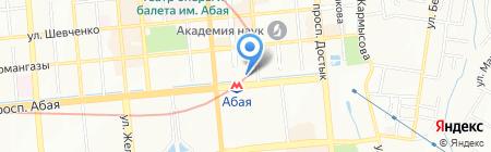 Центр города на карте Алматы