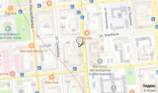 City Hotel Tien Shan. Схема проезда в Алматы