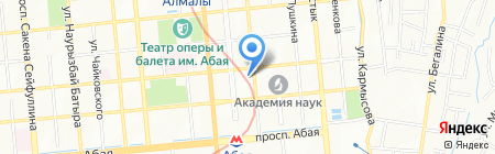 Восход на карте Алматы