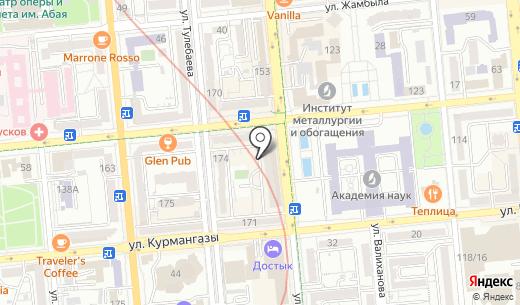 Восход. Схема проезда в Алматы