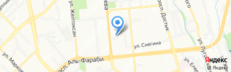 Kangаroo Grill & Bar на карте Алматы