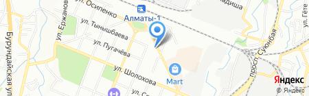 Нотариус Макенова Ф.Ш. на карте Алматы