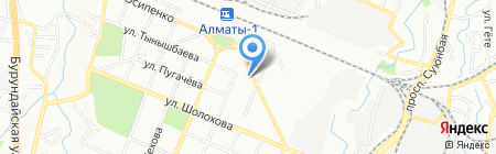 Нотариус Кусаинова Г.С. на карте Алматы