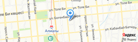 Адвокатская контора Сыдыковой Б.М. на карте Алматы