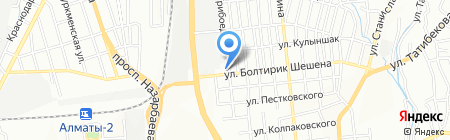 Испандияр на карте Алматы
