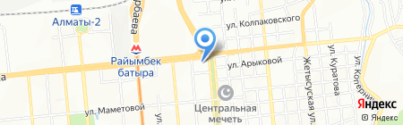Общеобразовательная школа №52 на карте Алматы