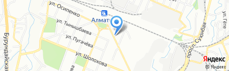 Нотариус Аргимбаев Д.А. на карте Алматы