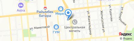 Айкап на карте Алматы