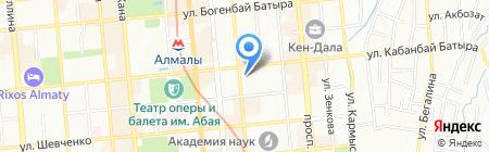 Управление занятности и социальных программ г. Алматы на карте Алматы