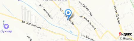 Алма такси на карте Алматы