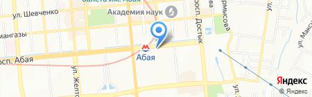 Станция Абая на карте Алматы