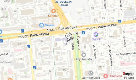 Бакалея. Схема проезда в Алматы