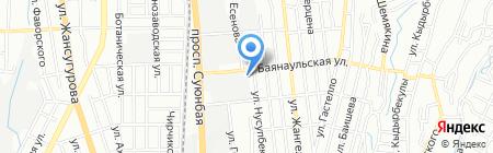 Шиномонтажная мастерская на проспекте Суюнбая на карте Алматы
