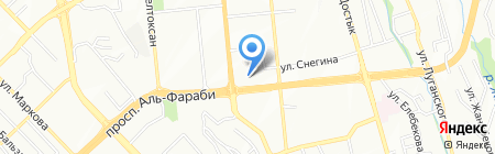 Check-in на карте Алматы