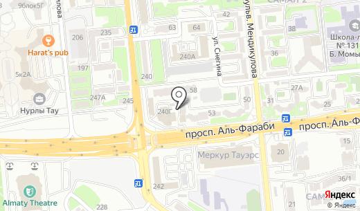 Check-in. Схема проезда в Алматы