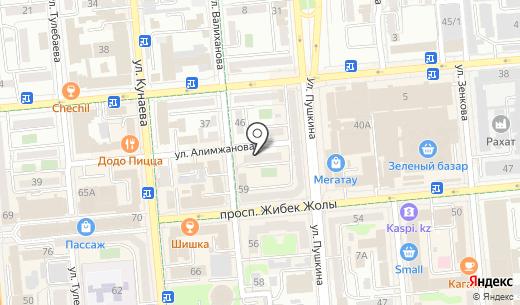Maya Services. Схема проезда в Алматы