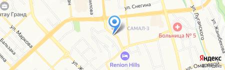 ДЭН на карте Алматы