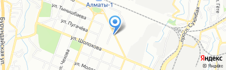 Нур Отан партия на карте Алматы
