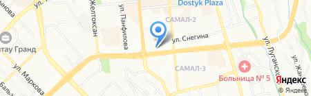 Борте на карте Алматы