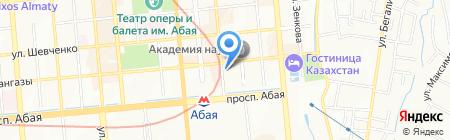 Салон красоты на ул. Кунаева на карте Алматы