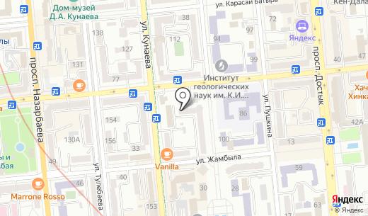 Торгово-производственная компания. Схема проезда в Алматы