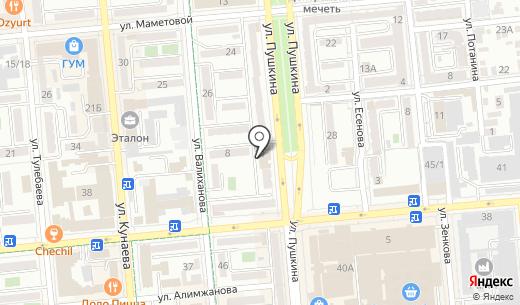 Коктейль. Схема проезда в Алматы