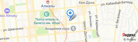 Нефть и газ на карте Алматы