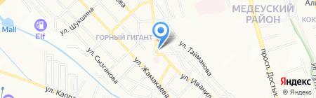 Мангал на карте Алматы